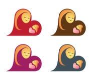 Madre e bambino Immagini Stock Libere da Diritti