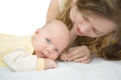 Madre e bambino Fotografia Stock