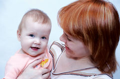 Madre e bambino Immagini Stock