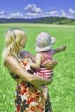 Madre e bambino Fotografie Stock Libere da Diritti