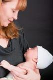 Madre e bambino appena nato Fotografia Stock
