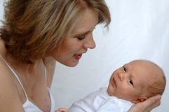 Madre e bambino appena nato Immagine Stock Libera da Diritti