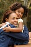 Madre e bambino dell'afroamericano fotografia stock