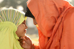 Madre e bambino di islam Fotografie Stock Libere da Diritti