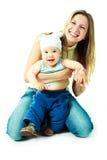 Madre e bambino felici fotografie stock