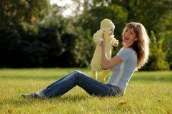 Madre e bambino felici Fotografia Stock Libera da Diritti