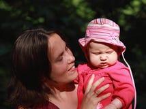 Madre e bambino infelice Fotografie Stock Libere da Diritti