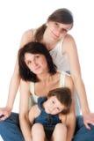 Madre e due figlie Fotografia Stock