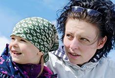 Madre e figlia. Fotografia Stock