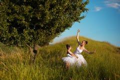 Madre e figlia della ballerina Fotografia Stock Libera da Diritti