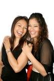 Madre e figlia di risata Fotografie Stock Libere da Diritti