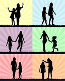 Madre e figlia - divertimento fotografia stock libera da diritti