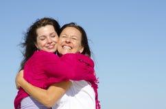 Madre e figlia felici della famiglia Fotografia Stock Libera da Diritti