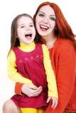 Madre e figlia i sorridente Immagini Stock