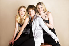Madre e figlie fotografia stock