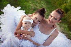 Madre e figlie della ballerina Fotografie Stock