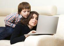 Madre e figlio fotografie stock