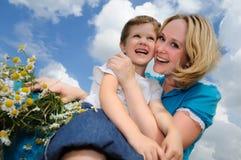 Madre e figlio felici Immagini Stock Libere da Diritti