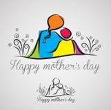 Madre e figlio felici royalty illustrazione gratis