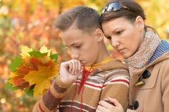 Madre e figlio tristi Fotografia Stock