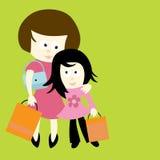 Madre e hija ilustración del vector