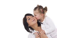 Madre e hija cariñosas Imagen de archivo