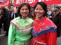 Madre e hija chinas Foto de archivo libre de regalías