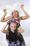Madre e hija de la princesa foto de archivo libre de regalías