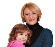 Madre e hija hermosas Fotos de archivo libres de regalías