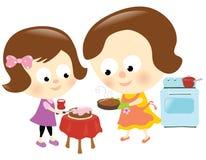 Madre e hija que se divierten libre illustration