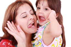 Madre e hija que se divierten Fotos de archivo