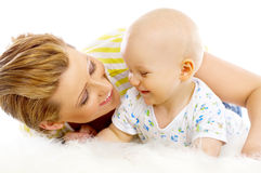 Madre e hijo imágenes de archivo libres de regalías
