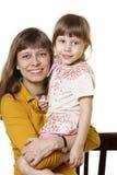 Madre e la figlia Immagini Stock Libere da Diritti