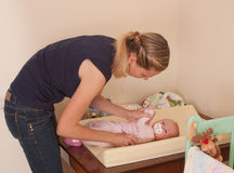 Madre e neonata fotografie stock
