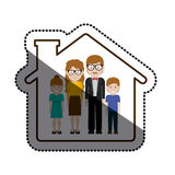 Madre e padre con progettazione dei bambini illustrazione vettoriale