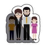 Madre e padre con progettazione dei bambini illustrazione di stock