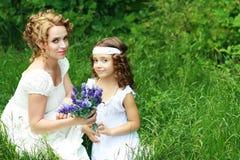 Madre e piccola figlia Fotografie Stock Libere da Diritti