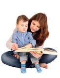 Madre e un figlio di 3 anni Immagine Stock