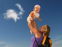 Madre ed il suo bambino Fotografie Stock