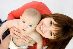 Madre ed il suo bambino Fotografia Stock