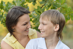 Madre ed il suo figlio Fotografia Stock Libera da Diritti