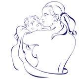 Madre felice che tiene il suo bambino Immagini Stock Libere da Diritti