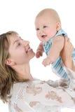 Madre felice con il bambino fotografie stock libere da diritti