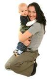 Madre felice con il piccolo figlio Fotografia Stock Libera da Diritti