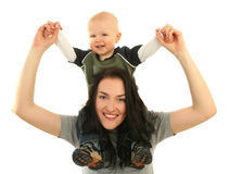 Madre felice con il piccolo figlio Immagine Stock Libera da Diritti