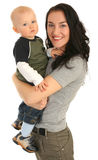 Madre felice con il piccolo figlio Fotografie Stock Libere da Diritti