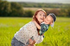 Madre feliz con el hijo Fotografía de archivo libre de regalías
