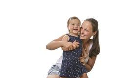 Madre feliz con el niño Imagen de archivo libre de regalías