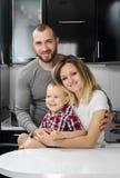 Madre feliz de la familia, padre, niño imagen de archivo