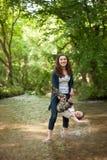 Madre, festa della mamma, figlio, ragazzo, natura, amore, emozioni, vita Fotografia Stock Libera da Diritti